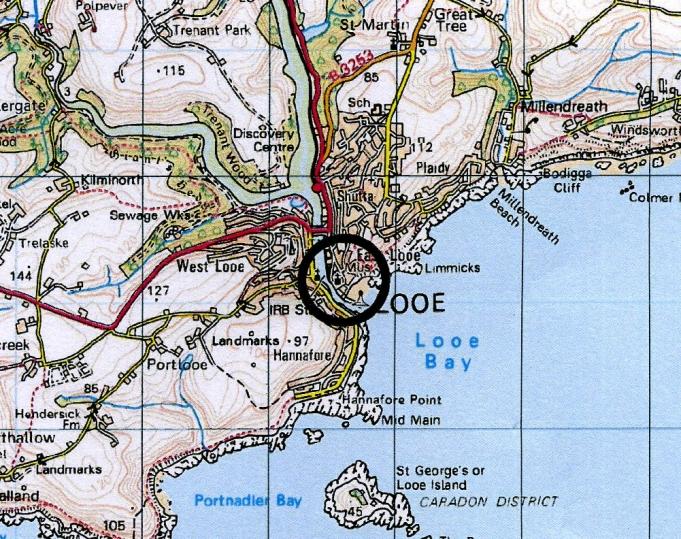 Looe Cornwall Map Looe self catering Cornwall holiday cottage sleeps 6 Looe Cornwall Map